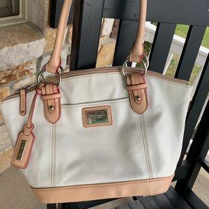 Tignanello Chalk Pebbled Leather Handbag